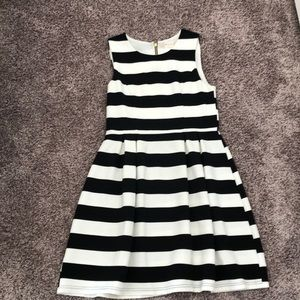 Altar'd State Black and White Stripped Dress